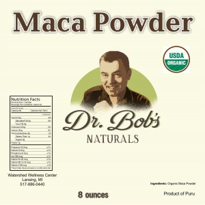 Maca 8 Ounce - Dr Bob Label