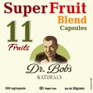 11 SuperFruit_BLEND Capsules - Dr Bob Label