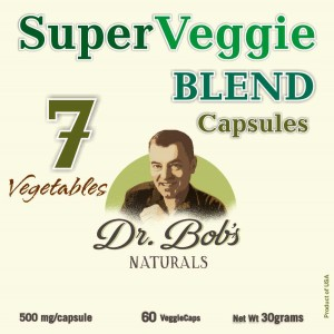 7 SuperVeggie_BLEND Capsules - Dr Bob Label