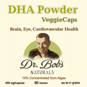 DHA Capsules - Dr Bob Label