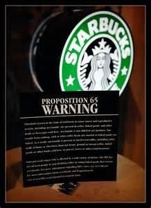 Starbucks prop 65